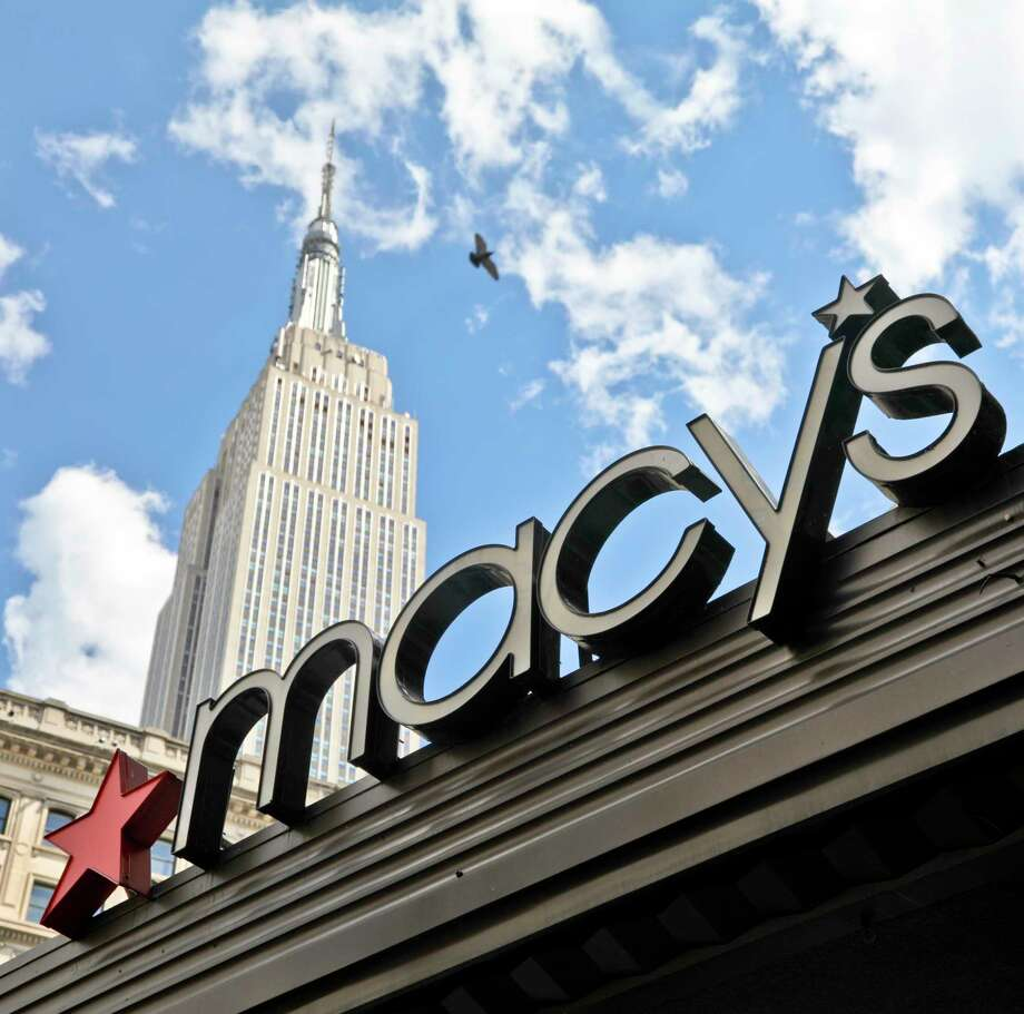 This Tuesday, May 2, 2017, photo shows Macy's corporate signage at its flagship store in New York. Macy's Inc. reports earnings, Thursday, Aug. 10, 2017. (AP Photo/Bebeto Matthews) ORG XMIT: NYBM601 Photo: Bebeto Matthews / Copyright 2017 The Associated Press. All rights reserved.