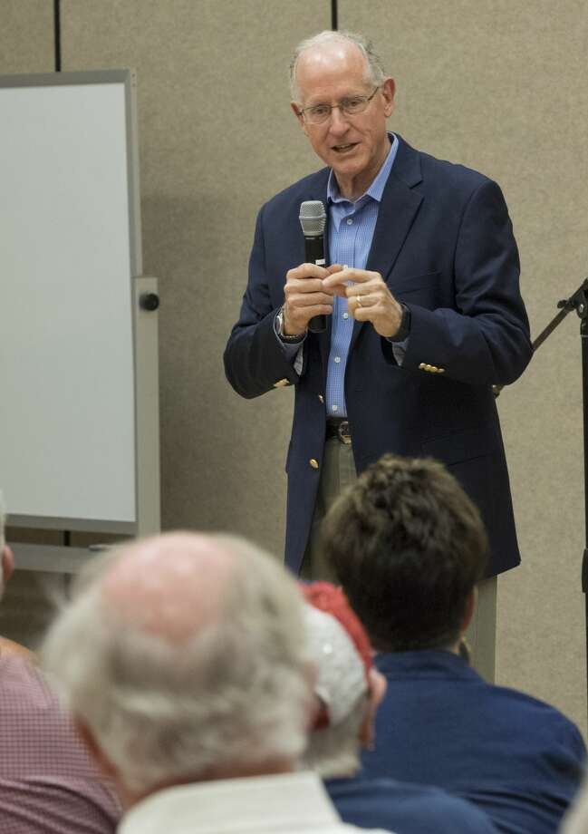 "Did Republicans make the grade?""I'd go with a B+,"" Rep. Mike Conaway, R-Midland, said Friday morning at the Martin County Library for a town hall meeting. ""We got tax reform done and got a little bit of health care done by repealing the individual mandate."" Photo: Tim Fischer/Midland Reporter-Telegram"