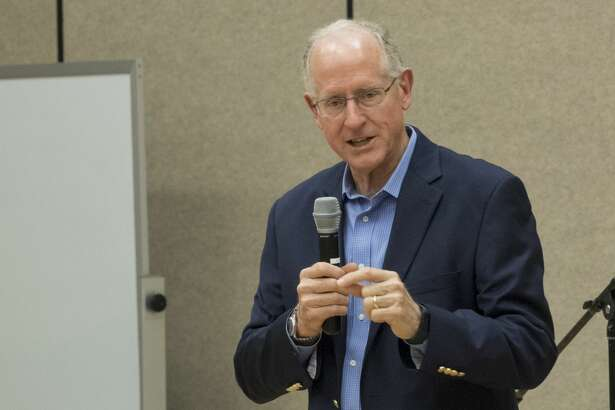 U.S. Representative Mike Conaway speaks 8/10/17 at a town-hall meeting at First Baptist Church. Tim Fischer/Reporter-Telegram