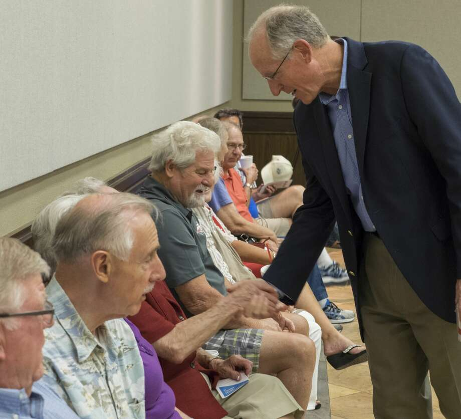 U.S. Representative Mike Conaway greets Midlanders 8/10/17 at a town-hall meeting at First Baptist Church. Tim Fischer/Reporter-Telegram Photo: Tim Fischer/Midland Reporter-Telegram