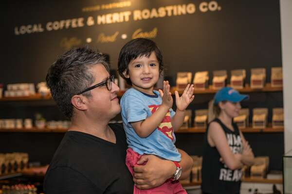 Local Coffee's new spot in Shavano Park hosted this month's Thursday Night Throwdown, a monthly series that hosts a competition for latte art.