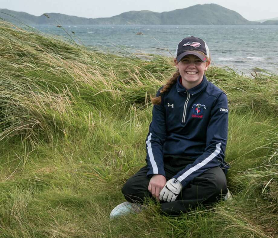 Southport golfer Clare Foley is all smiles after teaming with her father Larry, to win the World Invitational Father-Daughter tournament in Kerry, Ireland. Photo: Contributed Photo /