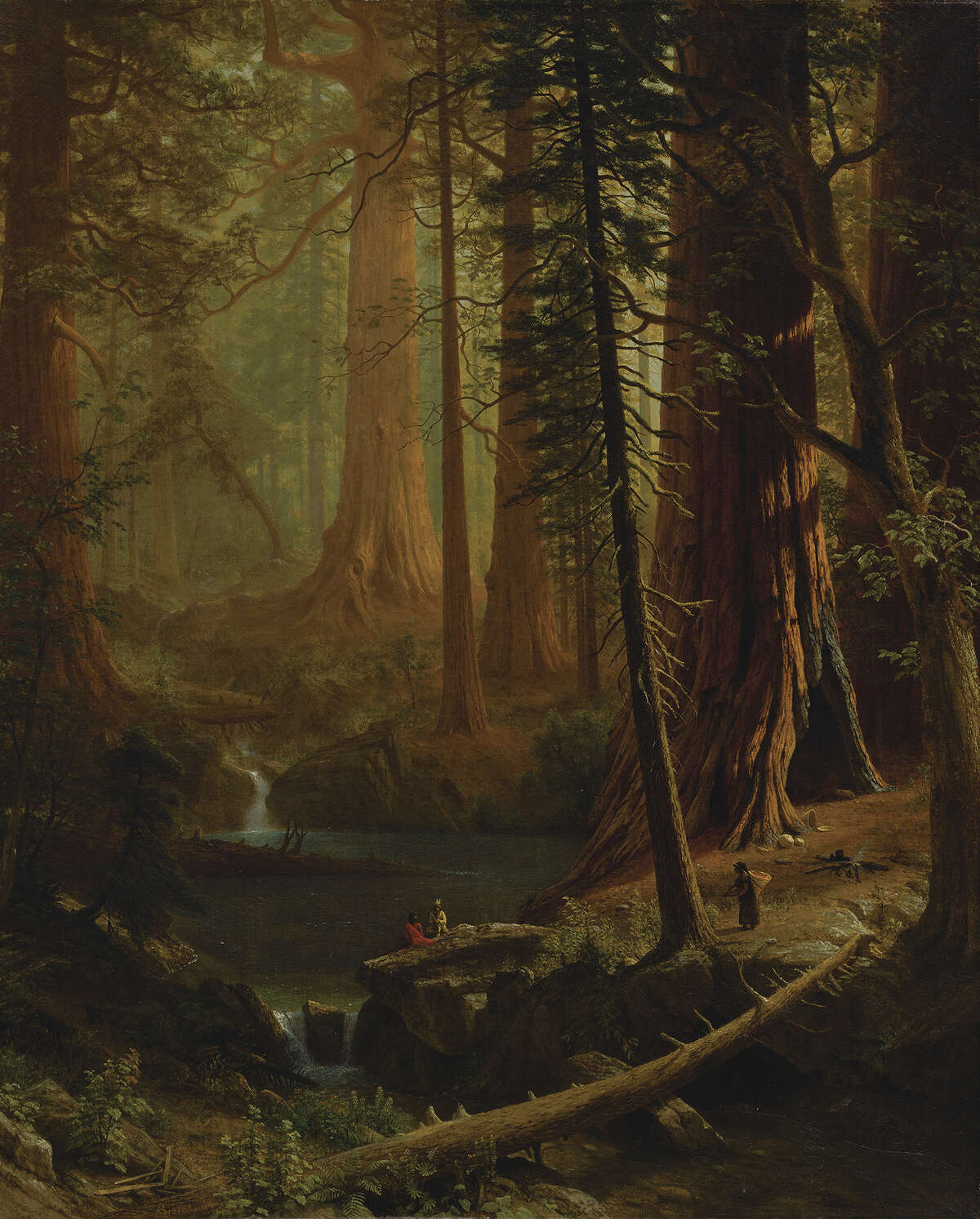 ALBERT BIERSTADT Giant Redwood Trees of California Circa 1874 Oil on canvas Courtesy Berkshire Museum It is one of the 40 works the museum will be auctioning in part to fund a $60 million