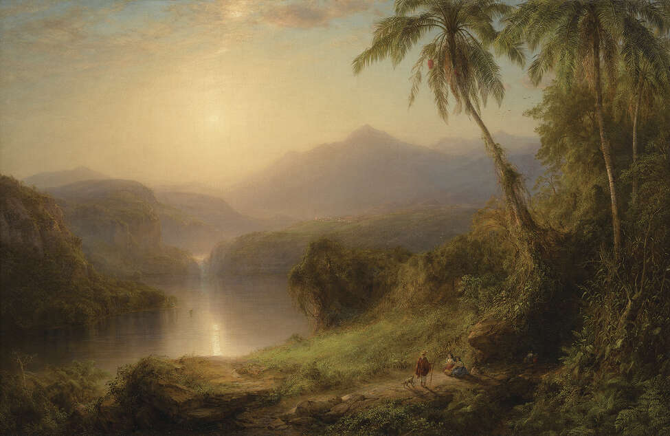 """FREDERIC EDWIN CHURCH Valley of the Santa Ysabel 1875 Oil on canvas Courtesy Berkshire Museum It is one of the 40 works the museum will be auctioning in part to fund a $60 million """"reinvention plan."""""""