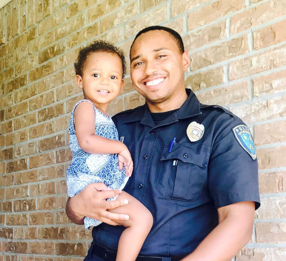 Peyton Williams, says her dad Deer Park police officer Brandon Williams, has been hospitalized three times because of  sickle cell anemia. ;  The Deer Park Police and Fire Department  will hold a barbecue fundraiser on Aug. 18, joining forces with Gulf Coast Regional Blood Center to host a blood drive in Peyton's name for a joint event. Photo: Courtesy Photo
