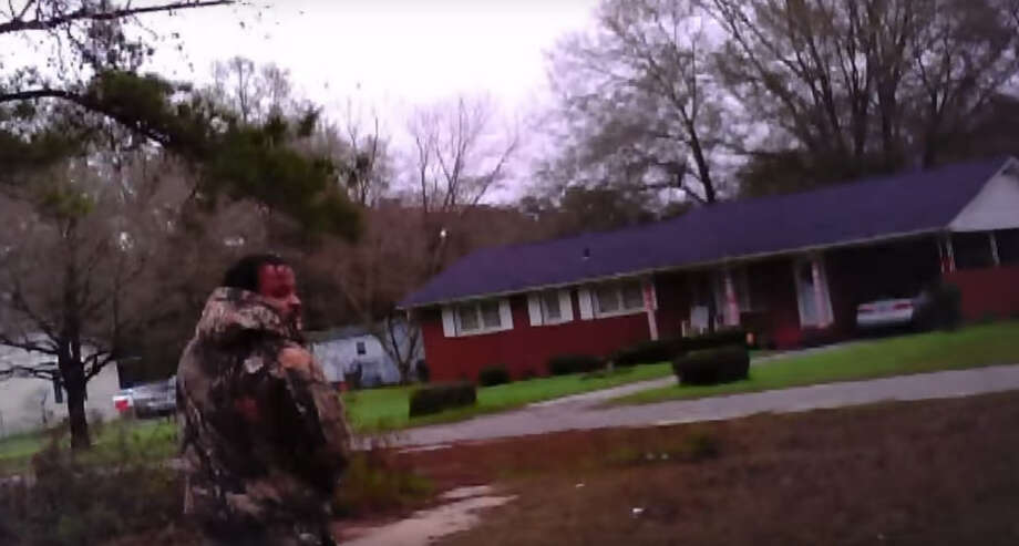 Dramatic surveillance video recorded by a pair of eyeglasses with a camera in them captured the moment a South Carolina officer was shot at least three times on New Year's Day in 2016. (14th Circuit Solicitor's Office)