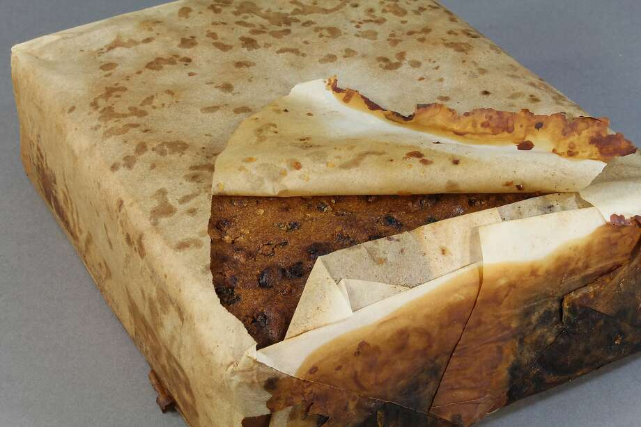 This 106-year-old fruitcake, believed to be brought by the ill-fated Scott Terra Nova expedition, was recently found in Antarctica is surprisingly good shape. Photo: Courtesy Of Antarctica Heritage Trust