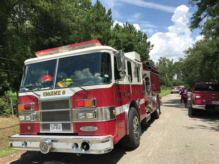Beaumont Fire Rescue vehicles on Oakridge Drive in Beaumont on Friday, Aug. 11.