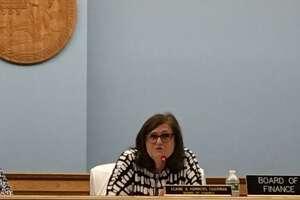 Trumbull Board of Finance Chairman Elaine Hammers