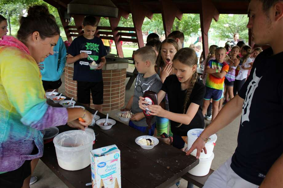 The Bad Axe Park and Recreation summer program wrapped up the 2017 season Friday at Bad Axe City Park with ice cream for all. Photo: Brenda Battel/Huron Daily Tribune