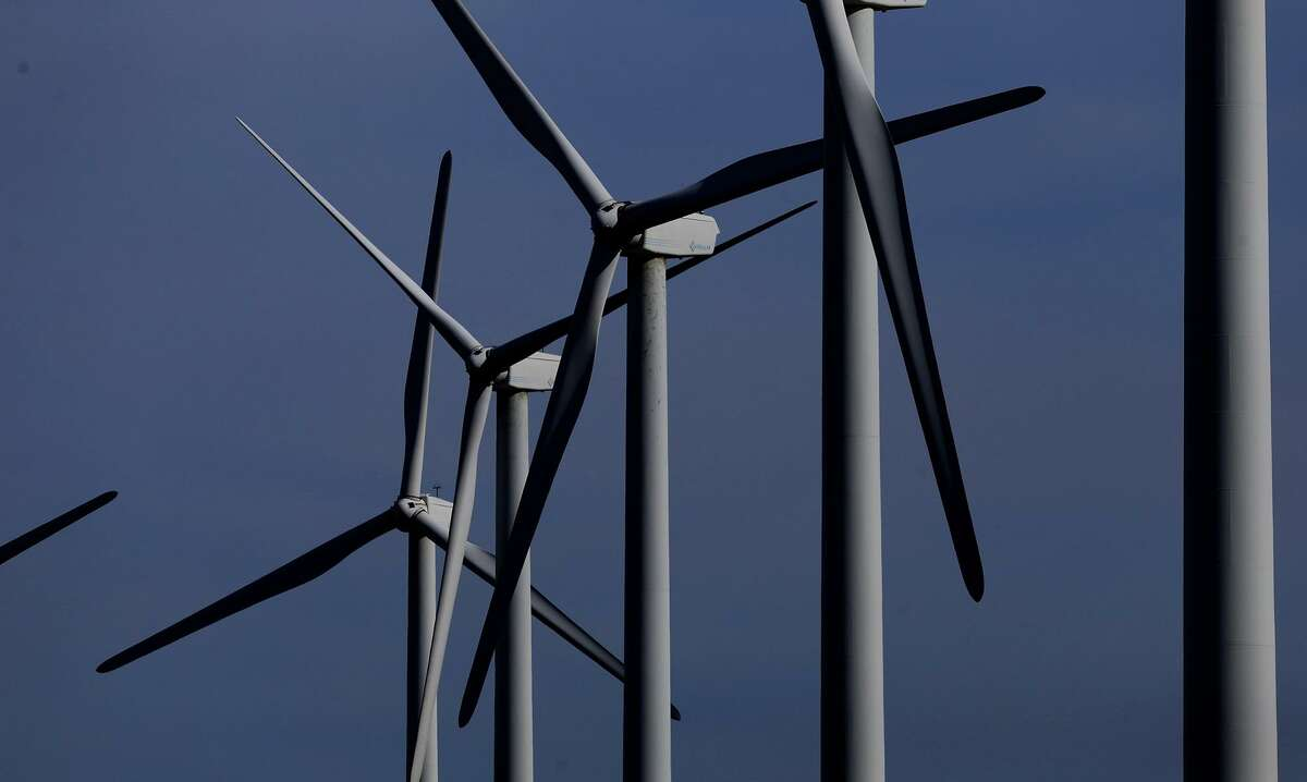 Wind turbines at the Desert Sky wind farm send power to San Antonio's city-owned utility CPS Energy. The utility ranked No. 13 in the country for wind power.