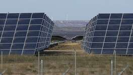 These solar panels are part of the 110-megawatt Alamo 6 solar power plant built by San Antonio-based OCI Solar Power in Pecos County.