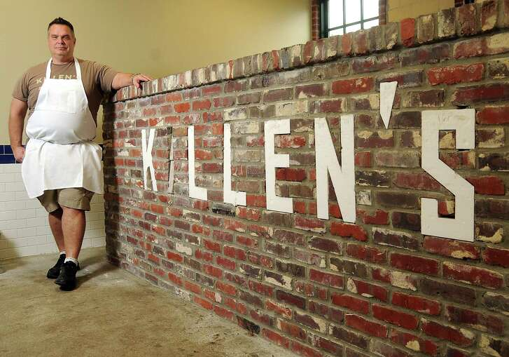 Ronnie Killen uses a combination of barrel and rotisserie smokers at Killen's Barbecue in Pearland.
