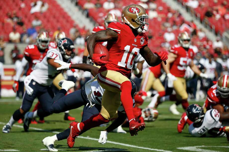 Wide receiver Bruce Ellington (10) signed a contract with the Texans on Friday. He was drafted by the 49ers in 2014. Photo: Tony Avelar, Associated Press / FR155217 AP