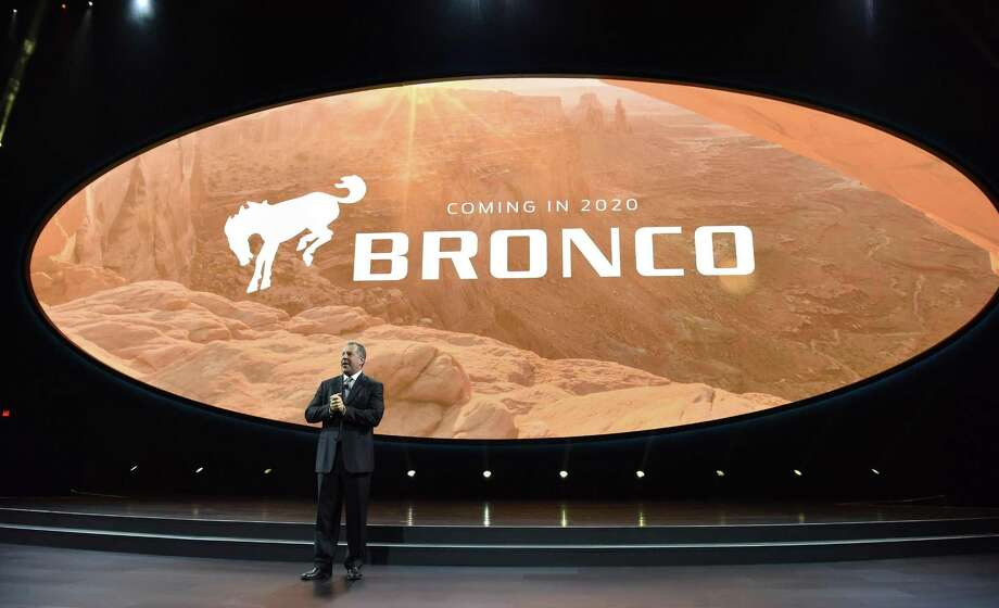 Joe Hinrichs, Ford's president of The Americas, announces that Ford will once again make its Ford Bronco midsize SUV on Jan. 9, 2017 in Detroit, Mich. Ford is bringing back the discontinued Bronco just as the man who made it famous is being released from jail. Photo: Ford /TNS / Chicago Tribune