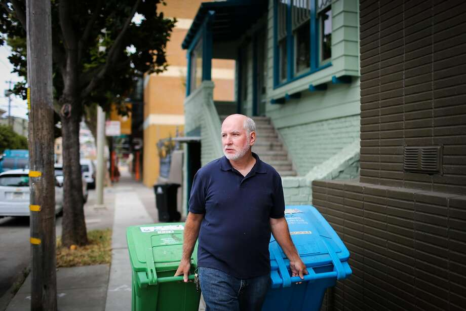 Owners of small multi-unit buildings, like duplex owner Chris Faust, saw a startling jump in their garbage bills. Photo: Gabrielle Lurie, The Chronicle