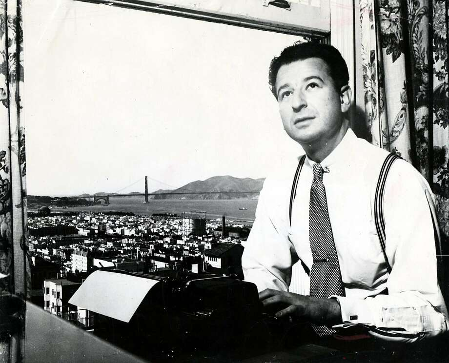 Columnist Herb Caen left for the Army in 1942. Photo: Duke Downey, Chronicle File
