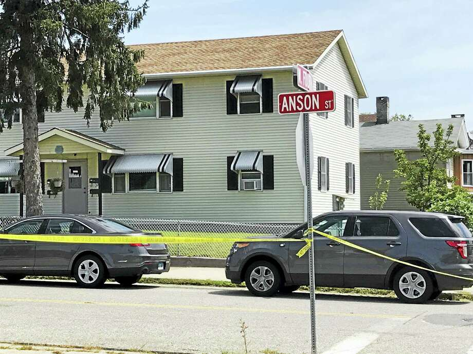 A man was shot and killed on Anson Street in Derby early Friday. Photo: Jessica Lerner / Hearst Connecticut Media