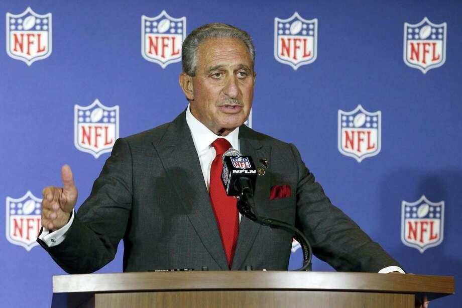 Atlanta Falcons owner Arthur Blank. Photo: The Associated Press File Photo  / FR170480 AP