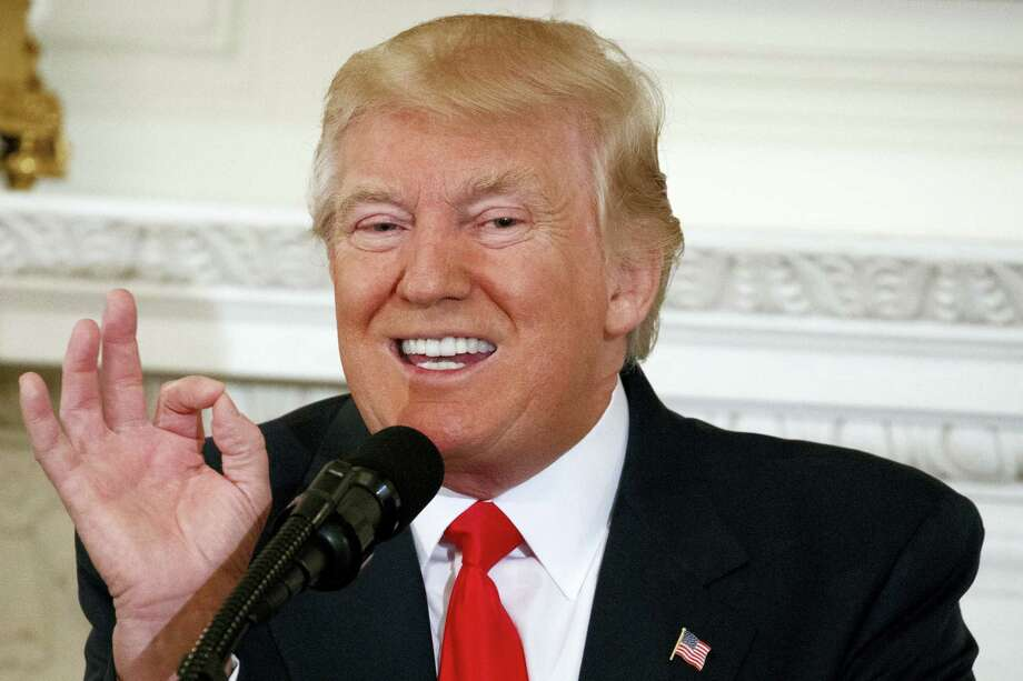 In this Feb. 27, 2017 photo, President Donald Trump speaks to a meeting of the National Governors Association at the White House in Washington. A presidential address to Congress is always part policy speech, part political theater. With Trump, a former reality TV star, there's extra potential for drama as he makes his first address to Congress. Photo: AP Photo — Evan Vucci  / Copyright 2017 The Associated Press. All rights reserved.