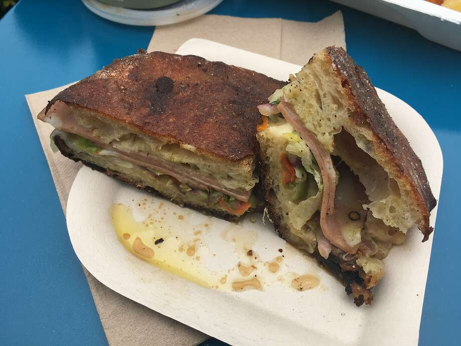 Tartine Manufactory's mortadella sandwich, one of the many food options at Outside Lands 2017. Photo: Sarah Fritsche