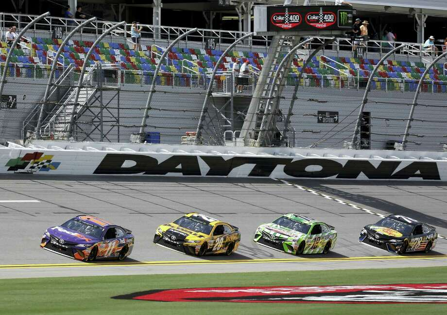Drivers make their way through a lap during practice at Daytona International Speedway. Photo: John Raoux — The Associated Press  / Copyright 2017 The Associated Press. All rights reserved.
