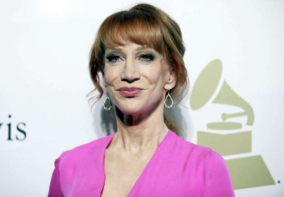 In this Feb. 11, 2017, file photo, comedian Kathy Griffin attends the Clive Davis and The Recording Academy Pre-Grammy Gala in Beverly Hills, Calif. Griffin says she knew her new photo shoot with photographer Tyler Shields would 'make noise.' She appears in a photo posted online Tuesday, May 30, 2017, holding what looks like President Donald Trump's bloody, severed head. Many on Twitter called for the comedian to be jailed. Griffin told photographer Shields in a video on his Twitter page Tuesday that they will have to move to Mexico to avoid federal prison for their latest collaboration. Photo: Photo By Rich Fury/Invision/AP, File   / 2017 Invision