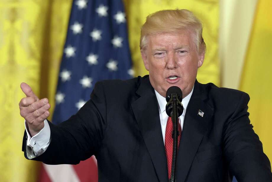 In this May 18, 2017, file photo, President Donald Trump speaks in the East Room of the White House in Washington. A White House official says President Donald Trump is expected to withdraw the United States from the Paris climate accord. Photo: AP Photo/Susan Walsh, File   / Copyright 2017 The Associated Press. All rights reserved.