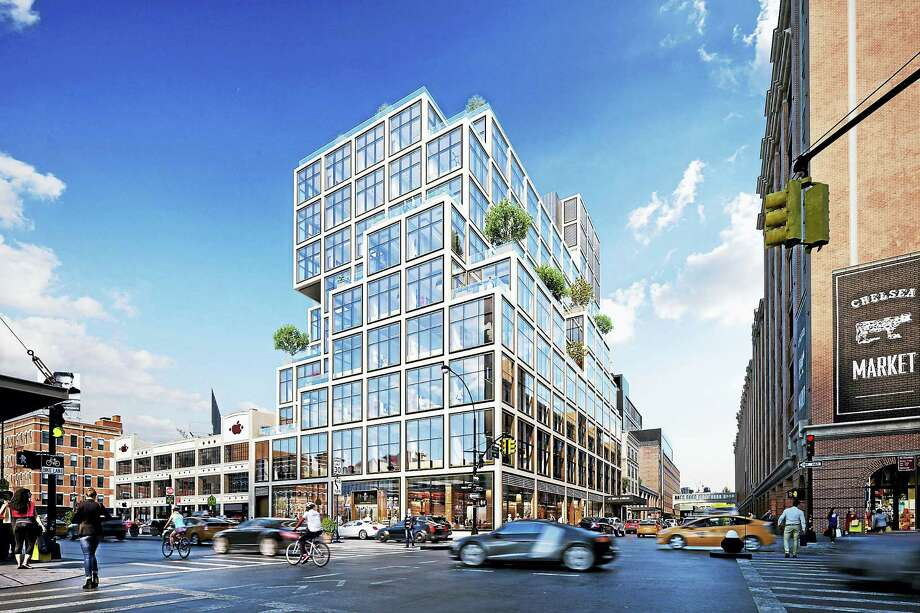 Aetna's planned new headquarters at 61 Ninth Ave. in New York City. (Rendering courtesy of Aetna) Photo: Contributed Photo / Connecticut Post Contributed