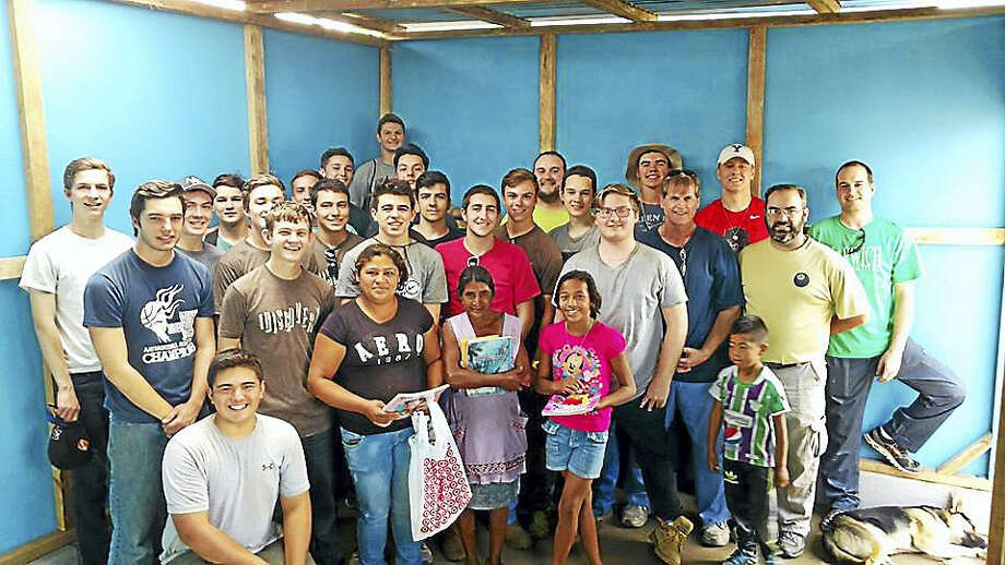 Twenty students from Xavier High School spent their spring break building homes in Antigua, Guatemala. Photo: Contributed Photo
