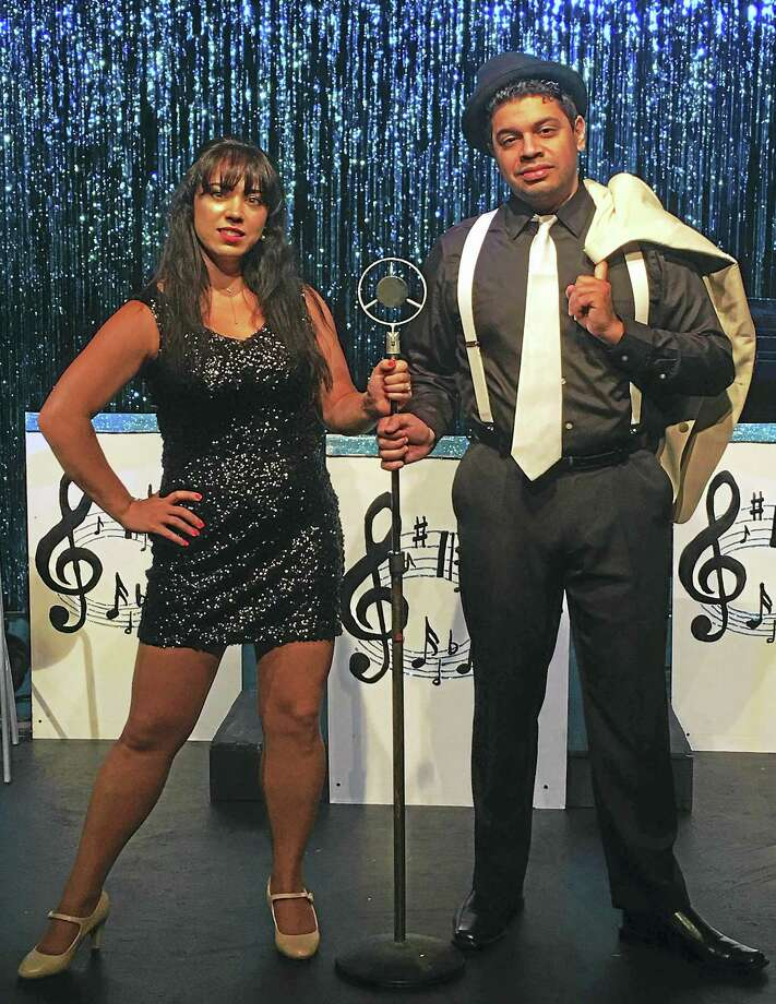 Kaite Corda and Jon Escobar share stories, songs and dances from Frank Sinatra's many years of entertainment. Photo: Photo Courtesy Of Connecticut Cabaret Theatre