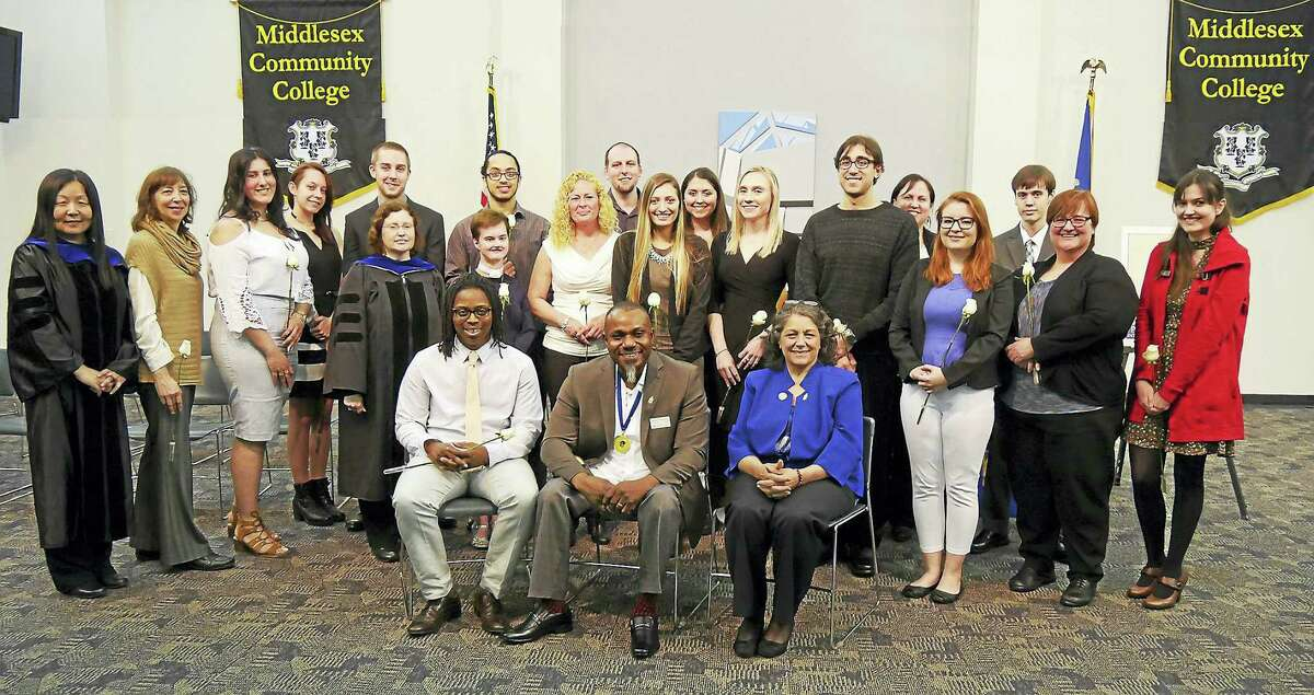 The Middlesex Community College chapter of Phi Theta Kappa, Beta Gamma Xi, inducted 57 new members recently.