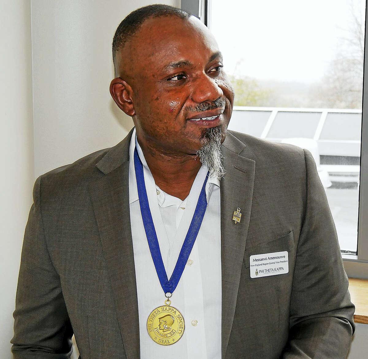 Messanvi Patrick Amenounve of Meriden, MxCC PTK chapter president