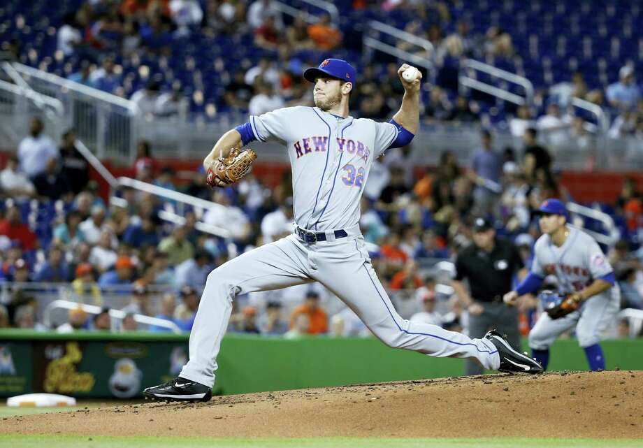 The Mets' Steven Matz delivers a pitch during the first inning Wednesday. Photo: Wilfredo Lee — The Associated Press  / Copyright 2017 The Associated Press. All rights reserved.