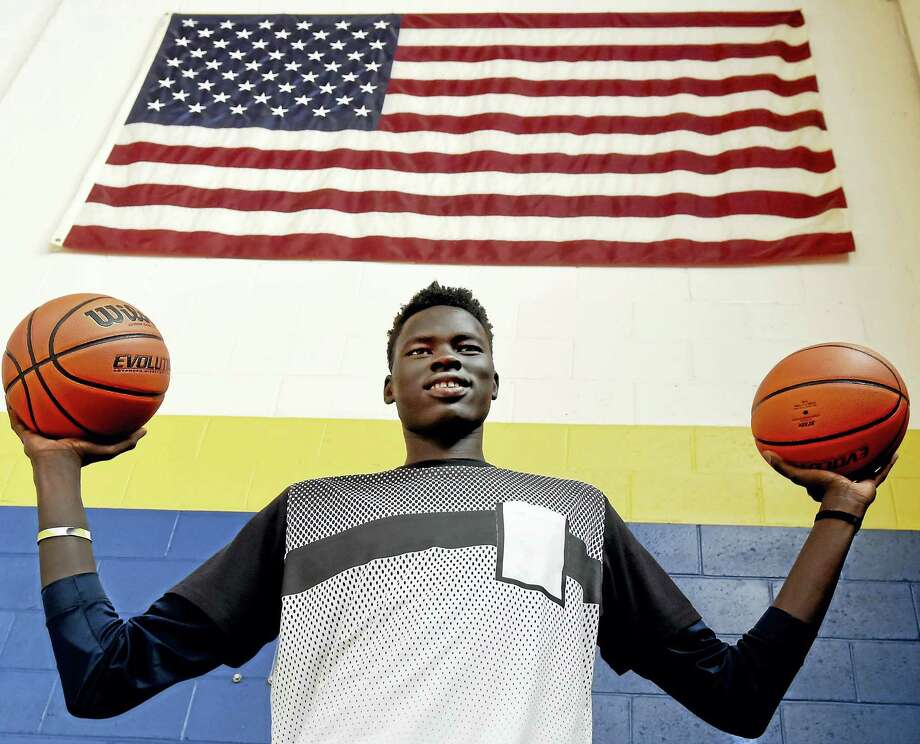 Chol Marial of South Sudan, 17, is a big-time prospect playing at Cheshire Academy. Photo: Peter Hvizdak — Register  / ?2017 Peter Hvizdak