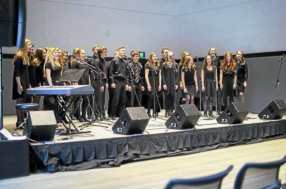 Haddam-Killingworth High School and Xavier High School students performed Feb. 11 at the Berklee High School Jazz Festival. Photo: Courtesy Reed Silverstein/Berklee