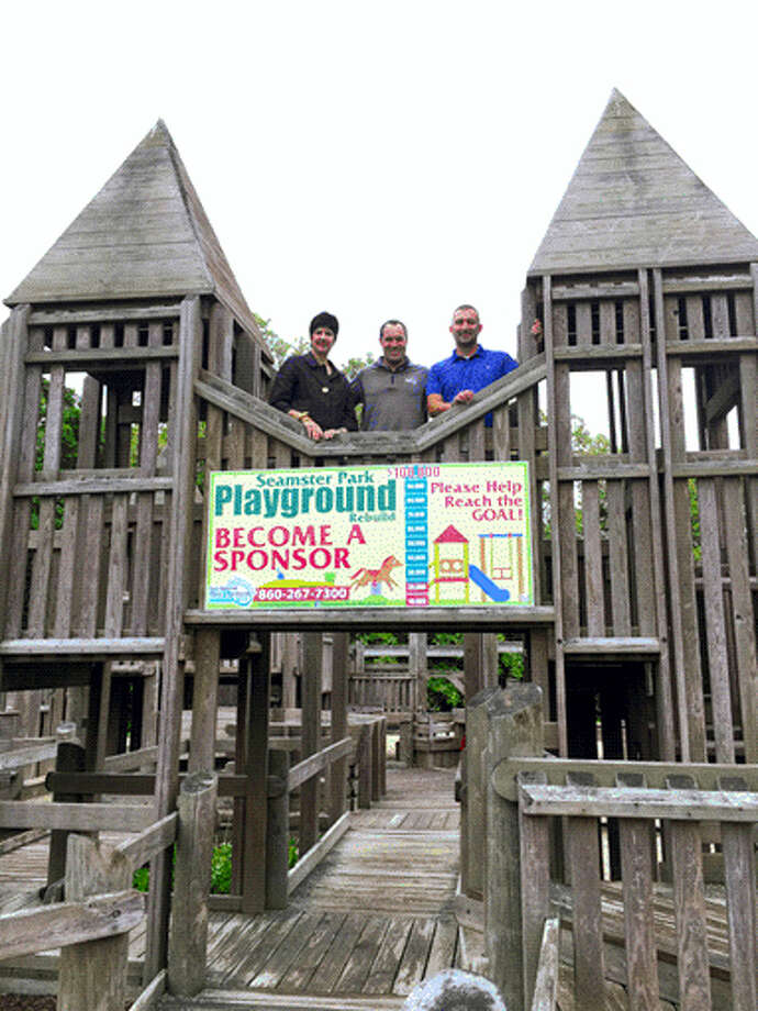 Seamster Park Playground in East Hampton will soon undergo $250,000 worth of renovations. Photo: Courtesy Eversource Energy