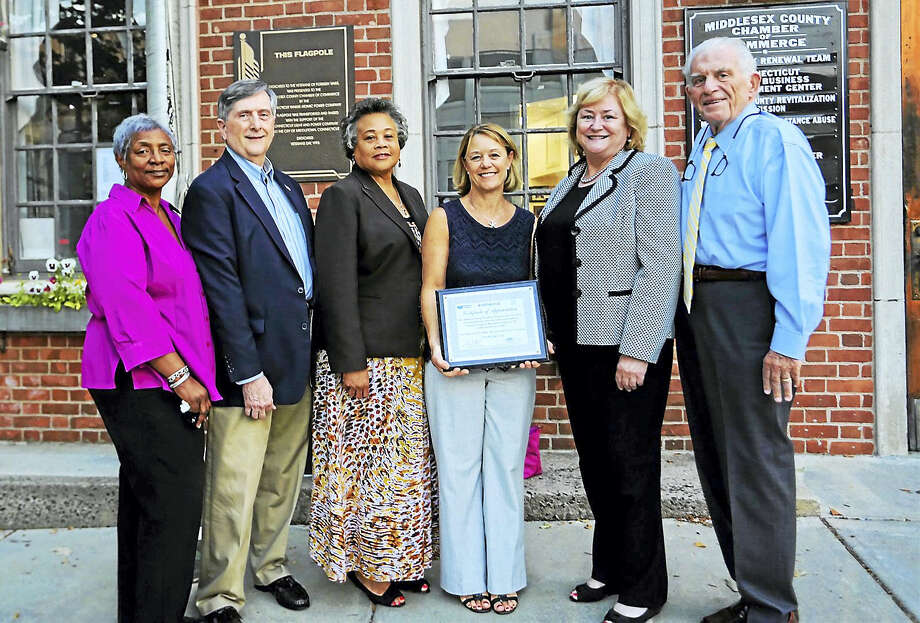 The Middlesex County Chamber of Commerce's Side Street to Main Street Supplemental Program Business Know-How completed its sixth successful year July 18. Shown from left are: Side to Main Street Program Coordinator Jennifer De Kine, Facilitator Jim Jackson, City of Middletown Director of Equal Opportunity & Diversity Management Faith Jackson, Eversource Project Manager-Corporate Relations Lindsay Parke, Eversource Community Relations & Economic Development Lead Cathy Lezon and Chamber President Larry McHugh. Photo: De Kine Photo LLC  / (c)DE KINE PHOTO LLC