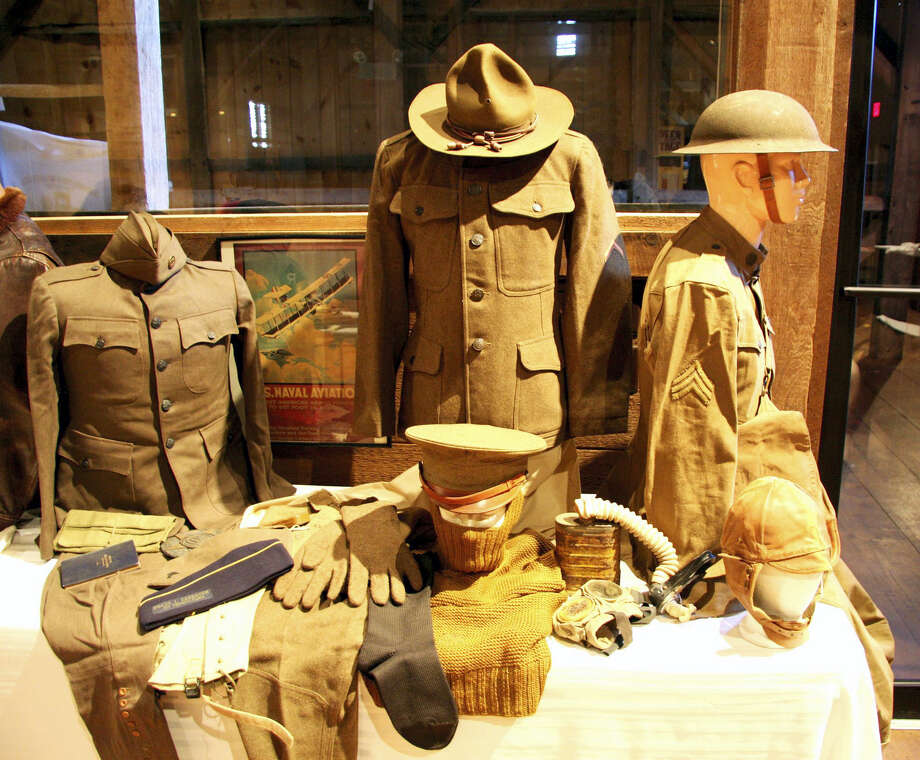 Uniform pieces of men who fought in World War I Photo: File Photo