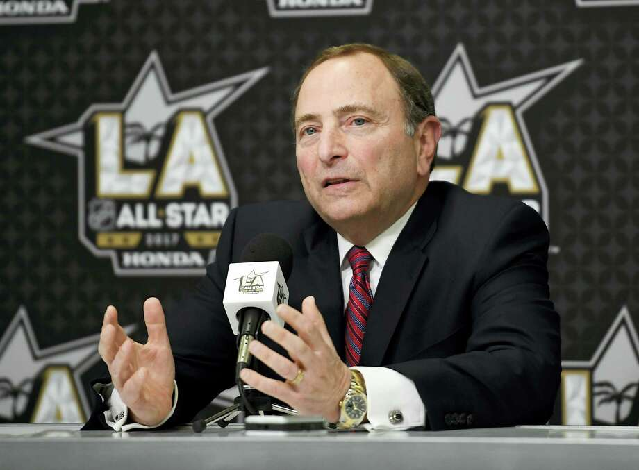 NHL Commissioner Gary Bettman speaks during a news conference at Staples Center on Saturday in Los Angeles. Photo: Mark J. Terrill — The Associated Press  / Copyright 2017 The Associated Press. All rights reserved.