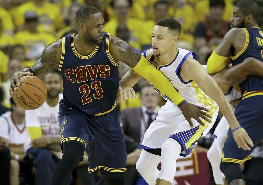 LeBron James and Steph Curry will face off for the third straight season in the NBA Finals. Photo: The Associated Press File Photo  / Copyright 2017 The Associated Press. All rights reserved.