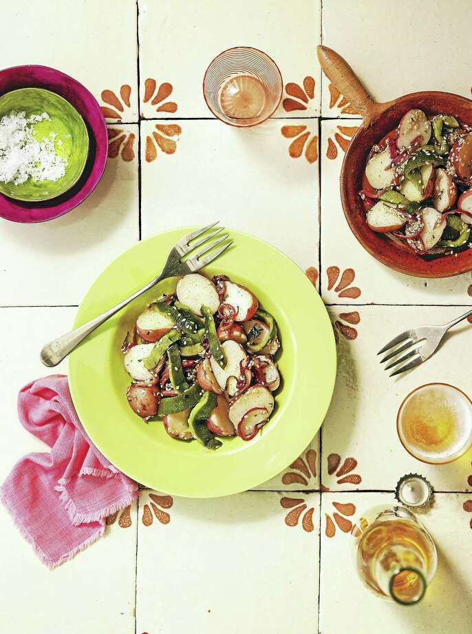 Potato and poblano rajas salad. Photo: Photo Courtesy Of Rux Martin Books