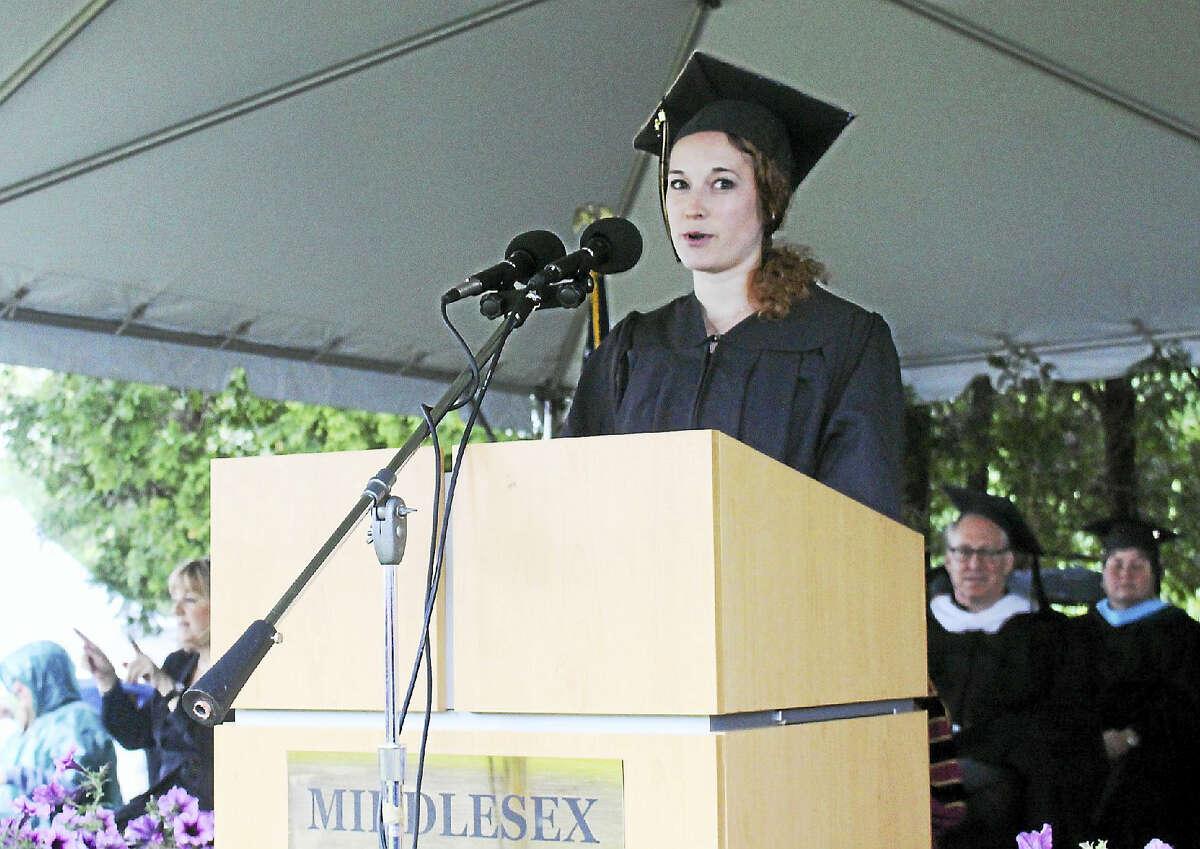 Analisa Novak — Special to The Press Middlesex Community College graduate Megan Schneider