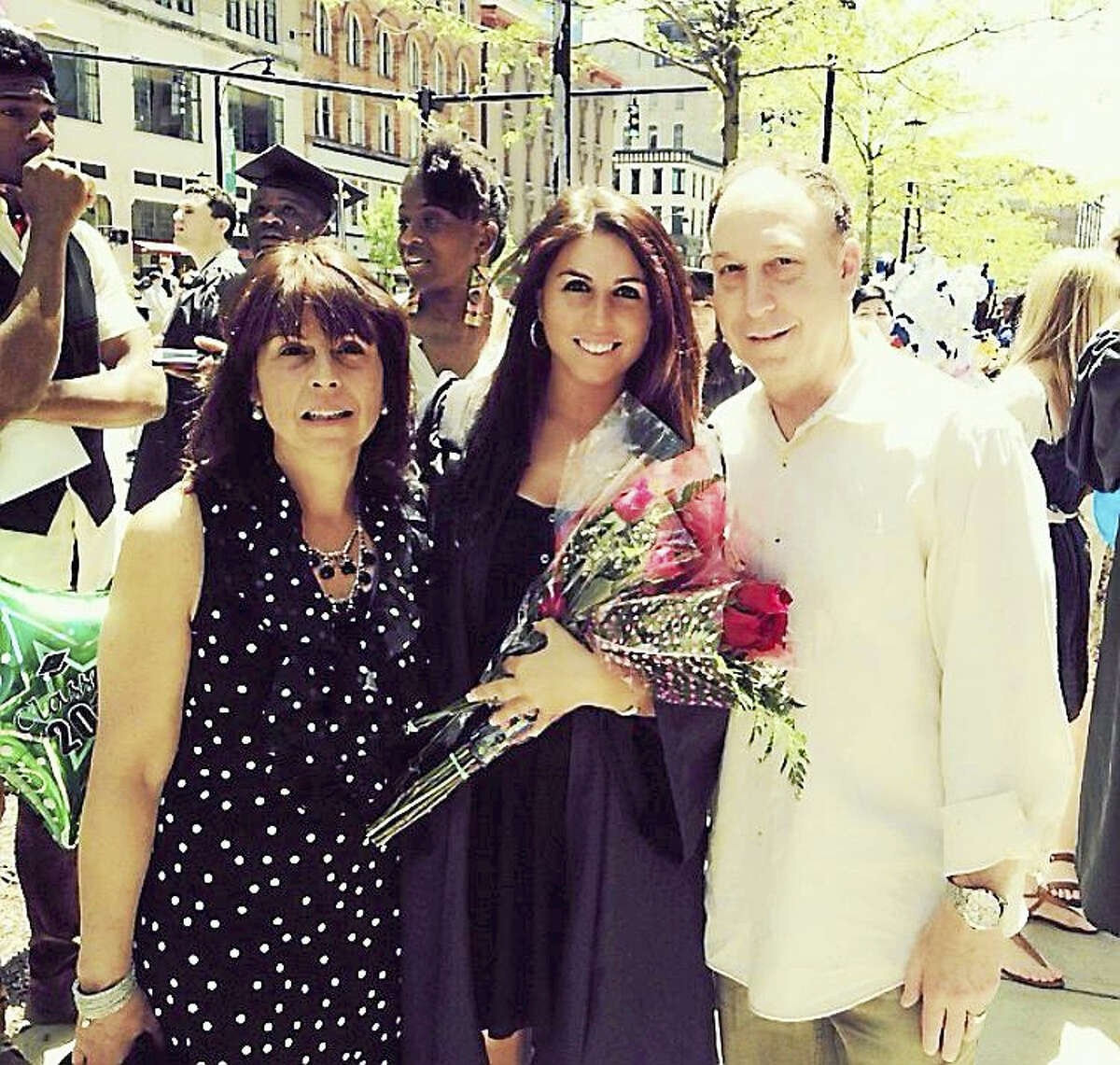 Shown are Carol Director, left, David Director, right; and their daughter Jenna, who was named a Big Sister of the Year in 2013.