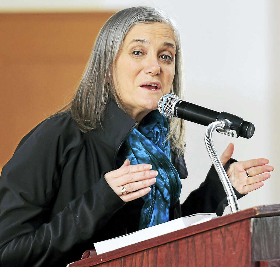 Journalist Amy Goodman speaks Mondayat Wesleyan University in Middletown. Photo: Peter Hvizdak — New Haven Register  / ©2017 Peter Hvizdak
