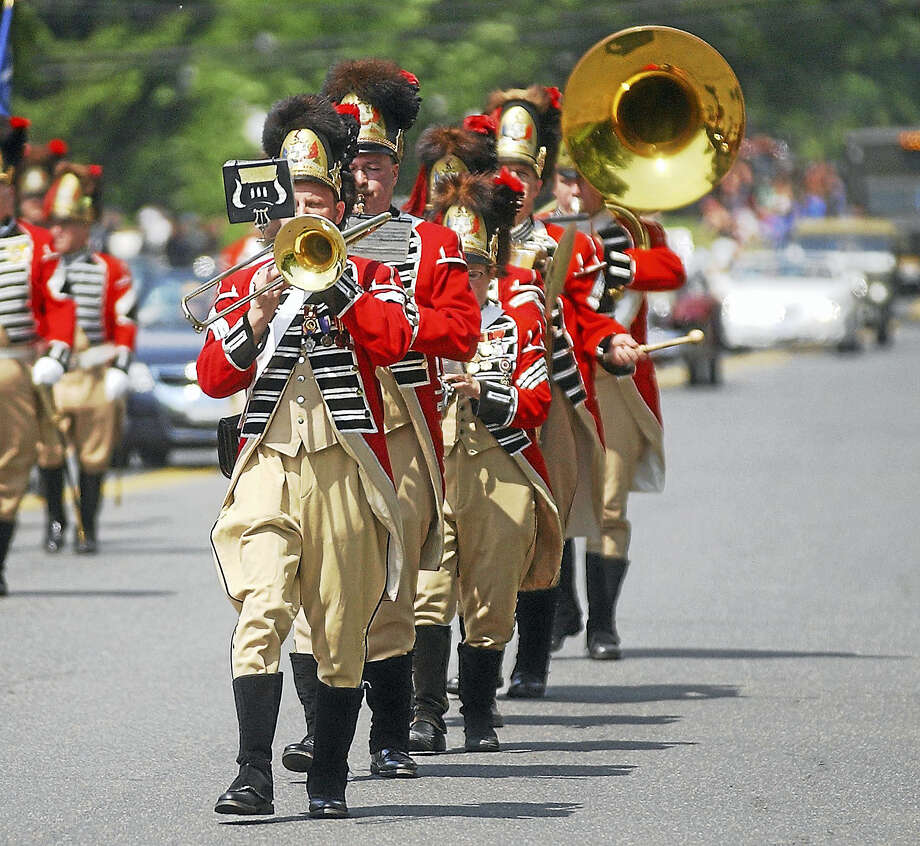 A corps horns section plays during Portland's Memorial Day parade in this archive photograph. Photo: File Photo