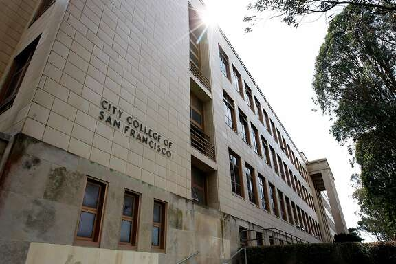 The front of the Science Hall at San Francisco City College in San Francisco, CA Wednesday September 11, 2013.