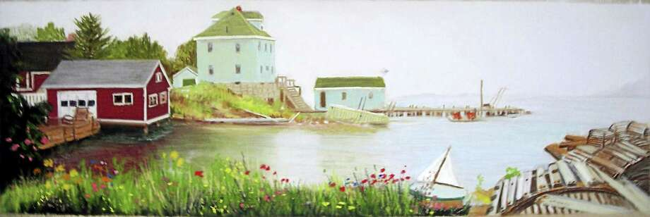 Contributed photoThe Green House in Stonington, by Jane M. White, on display at the Acton Public Library. Photo: Digital First Media