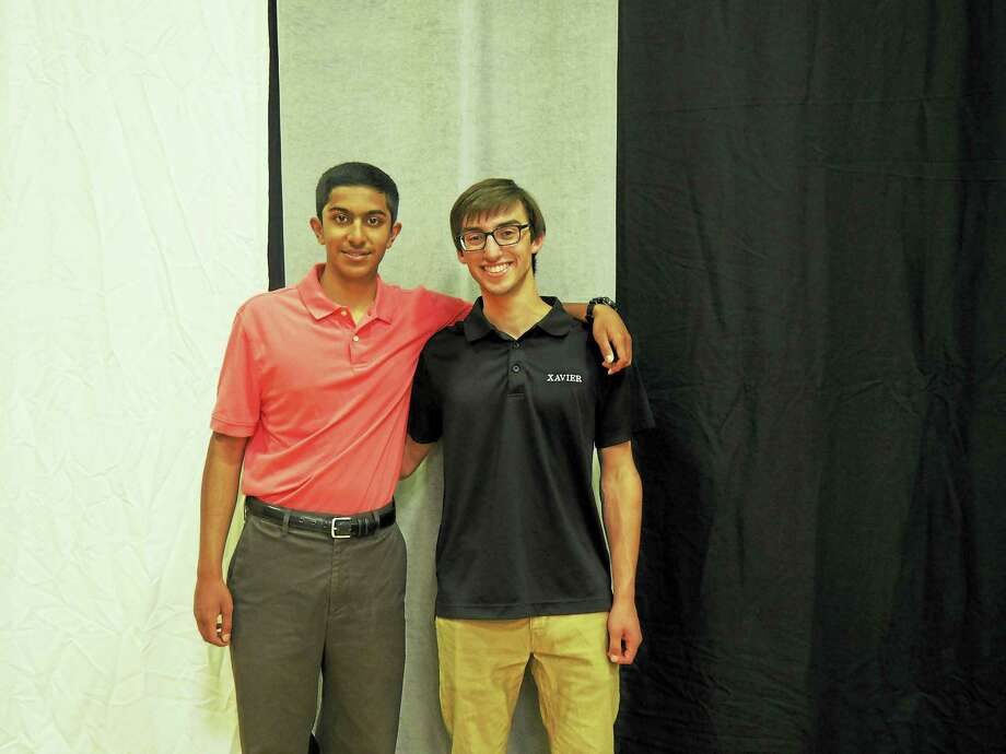 Xavier High School valedictorian Mihir Khunte, left, and salutatorian Ryan Weis Photo: Courtesy Xavier High School