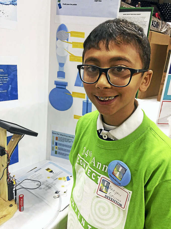 Aaryan Gautam of Middletown was selected to attend the National's championship for his invention. Details below. I would like your support to be published this in the Middletown press. Details of this invention is in this youtube video:https://youtu.be/o0EVUmJ7s84 Photo: Digital First Media